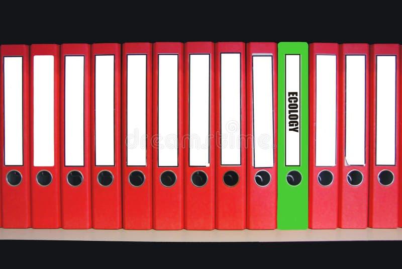 Fichero verde fotografía de archivo libre de regalías