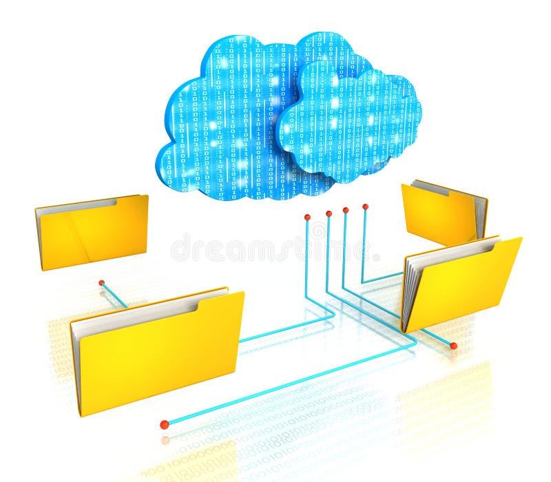 Ficheros de organización computacionales del diagrama de la carpeta de la nube libre illustration