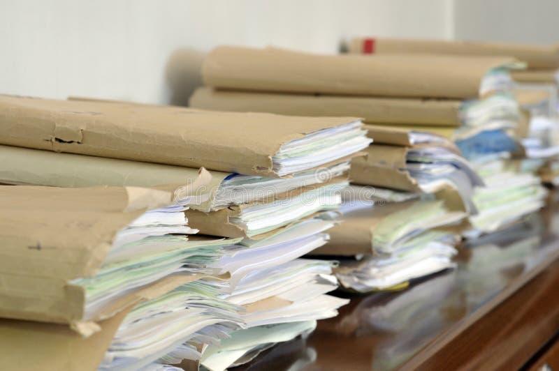 Ficheros documentos de papel foto de archivo imagen de for Ficheros para oficina
