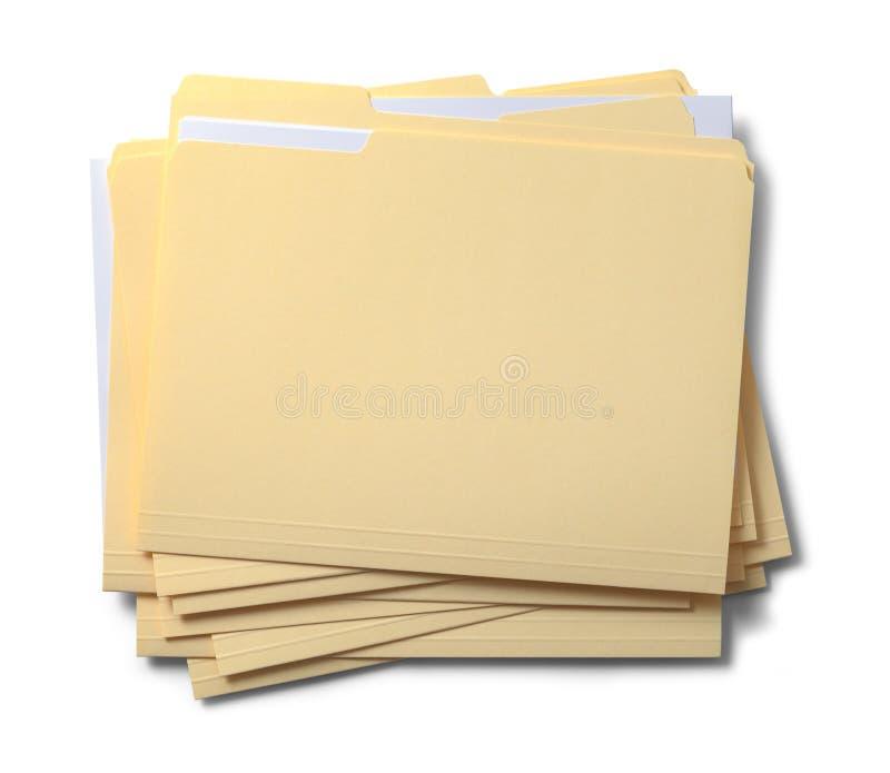 Ficheros empilados imagen de archivo libre de regalías