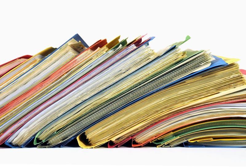 Ficheros y carpetas multicolores imagen de archivo libre de regalías