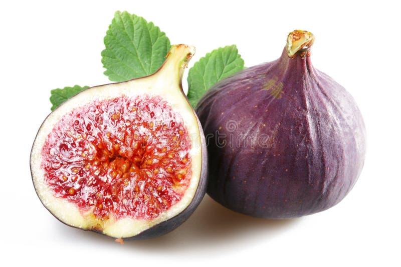 Fichi con frutta tagliata immagine stock