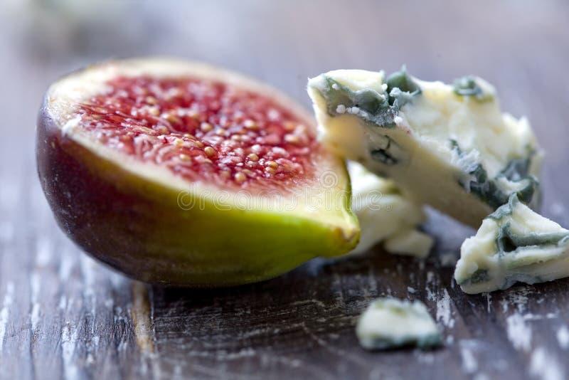 Fichi e formaggio immagini stock
