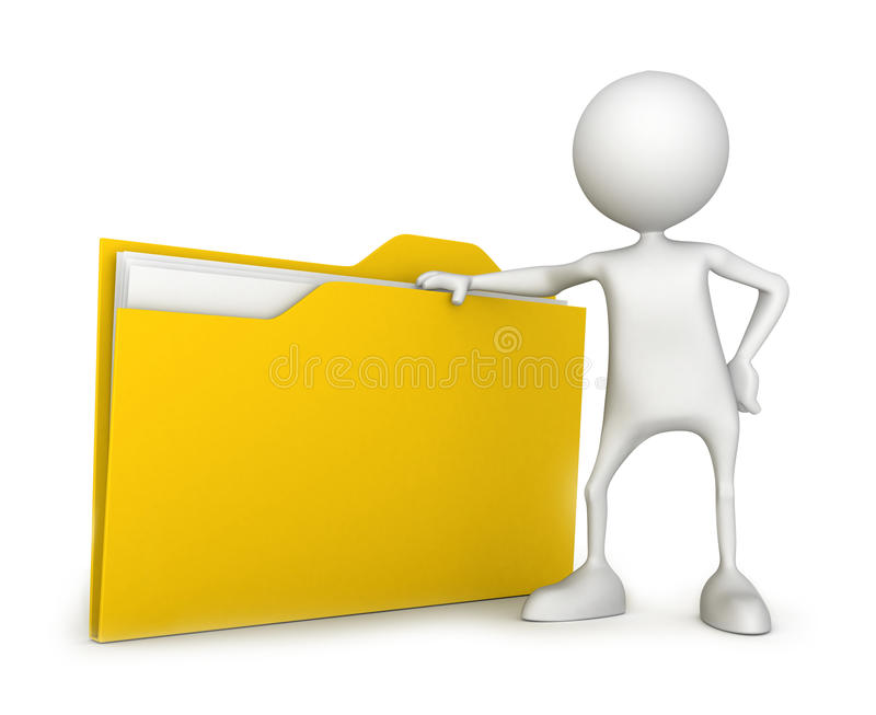 Fichier avec le document illustration stock