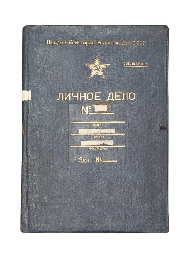 Fichier de NKVD (KGB) photos stock