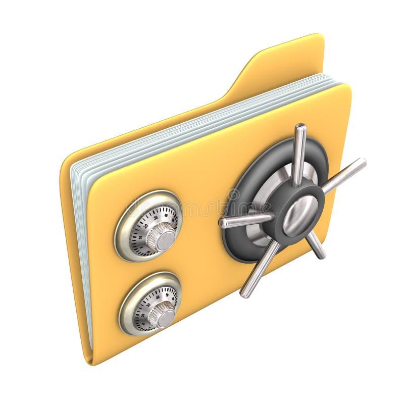Fichier sûr illustration libre de droits