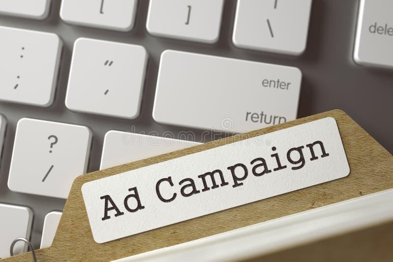 Fichier sur cartes avec la campagne publicitaire 3d photos stock