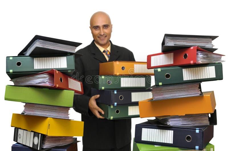 Fichiers partout image stock