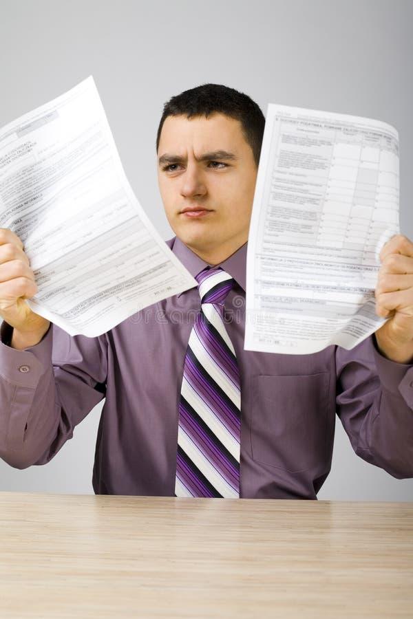 Fichus impôts ! images libres de droits