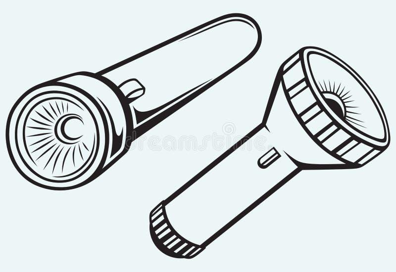 Fick- ficklampa för elkraft royaltyfri illustrationer