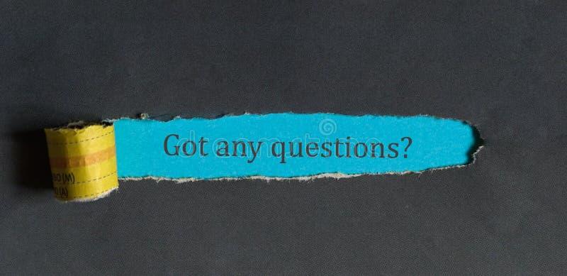 Fick några frågor? - ett kommunikationsbegrepp royaltyfri foto