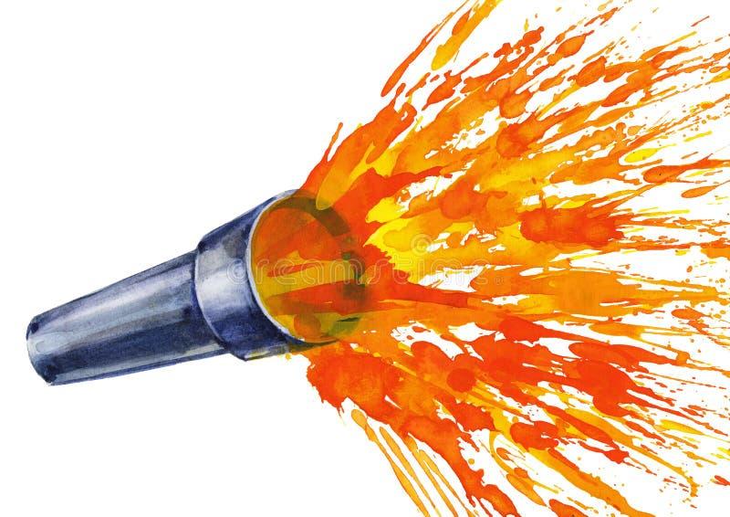 ficklampa vektor illustrationer