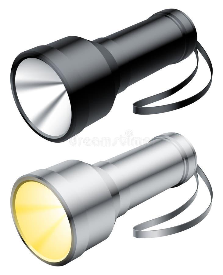 ficklampa stock illustrationer