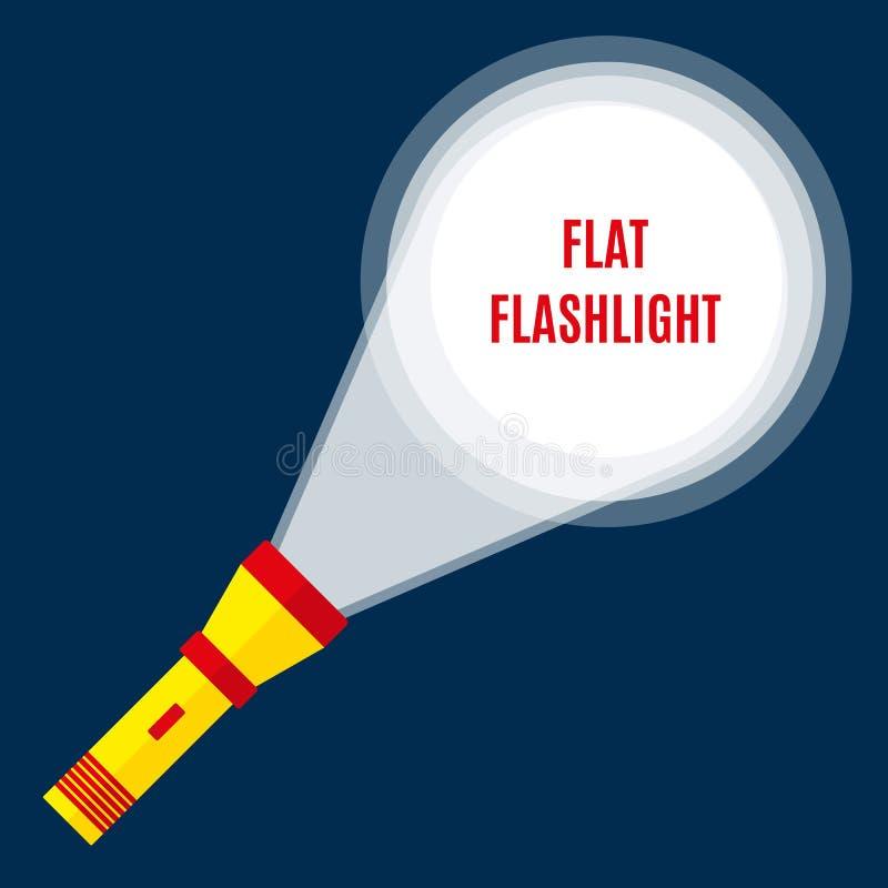 Ficklampa- eller fackfackla stock illustrationer
