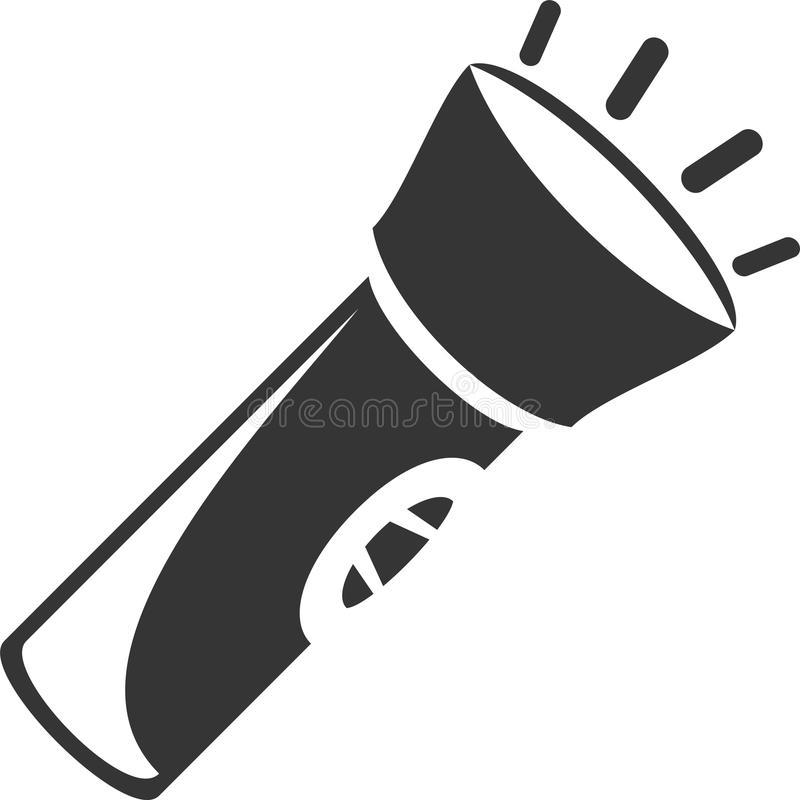 Ficklampa - LETT facklaljus stock illustrationer