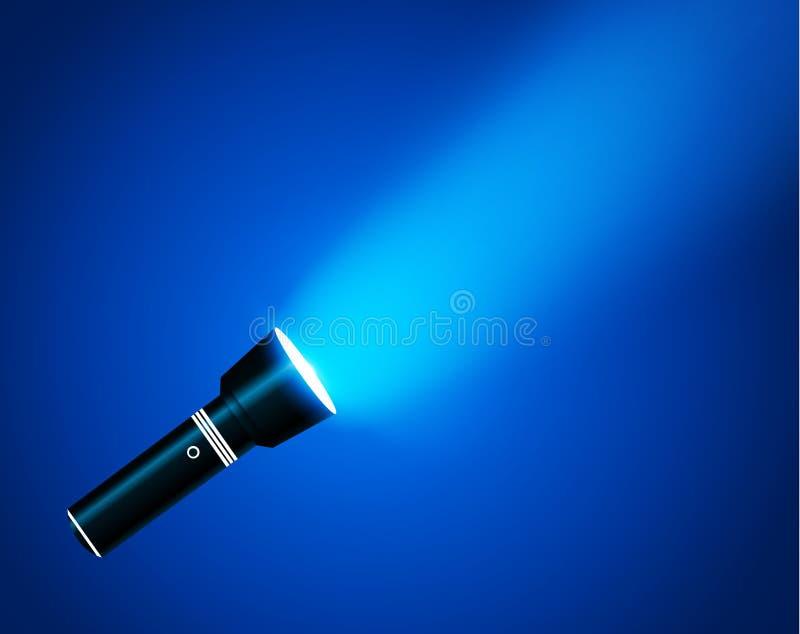 Ficklampa på genomskinlig bakgrund stock illustrationer