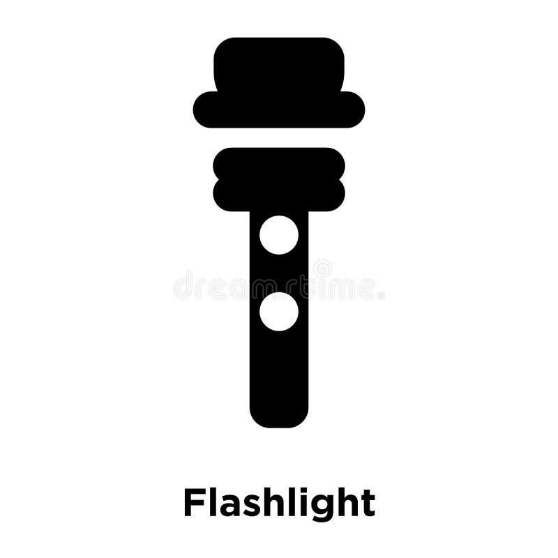 Ficklampasymbolsvektor som isoleras på vit bakgrund, logoconcep royaltyfri illustrationer