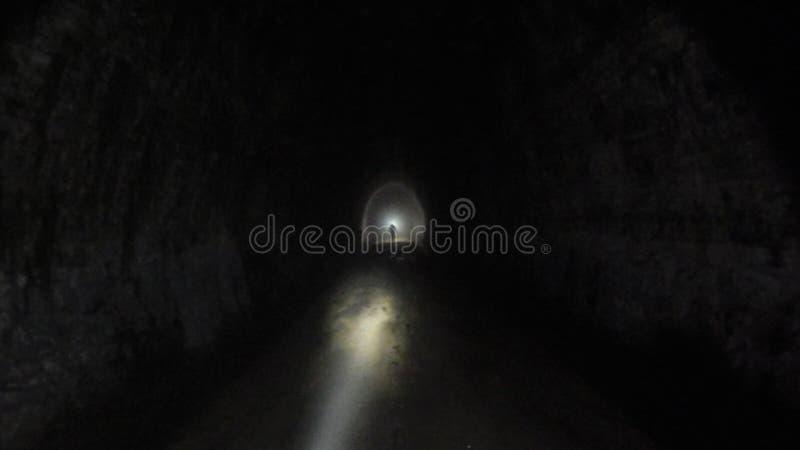 Ficklampor i mörkret arkivbild