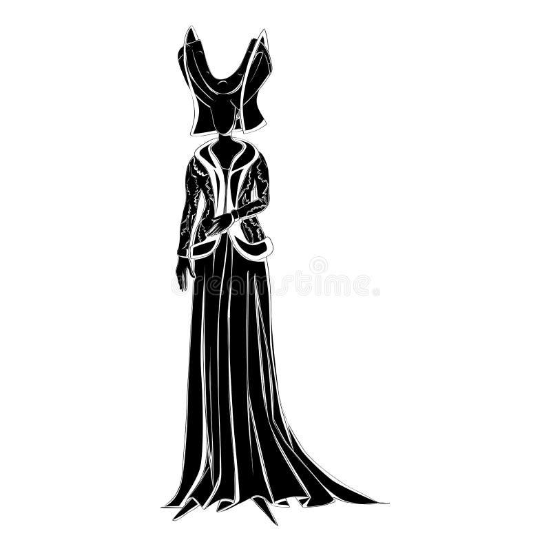 Fictief karaktersilhouet royalty-vrije illustratie