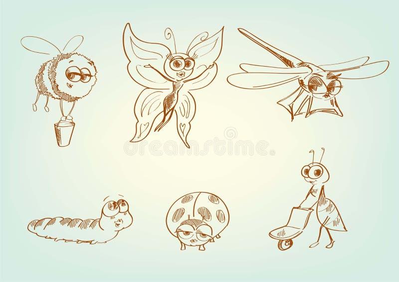Fictieve fantastische karakters vector illustratie