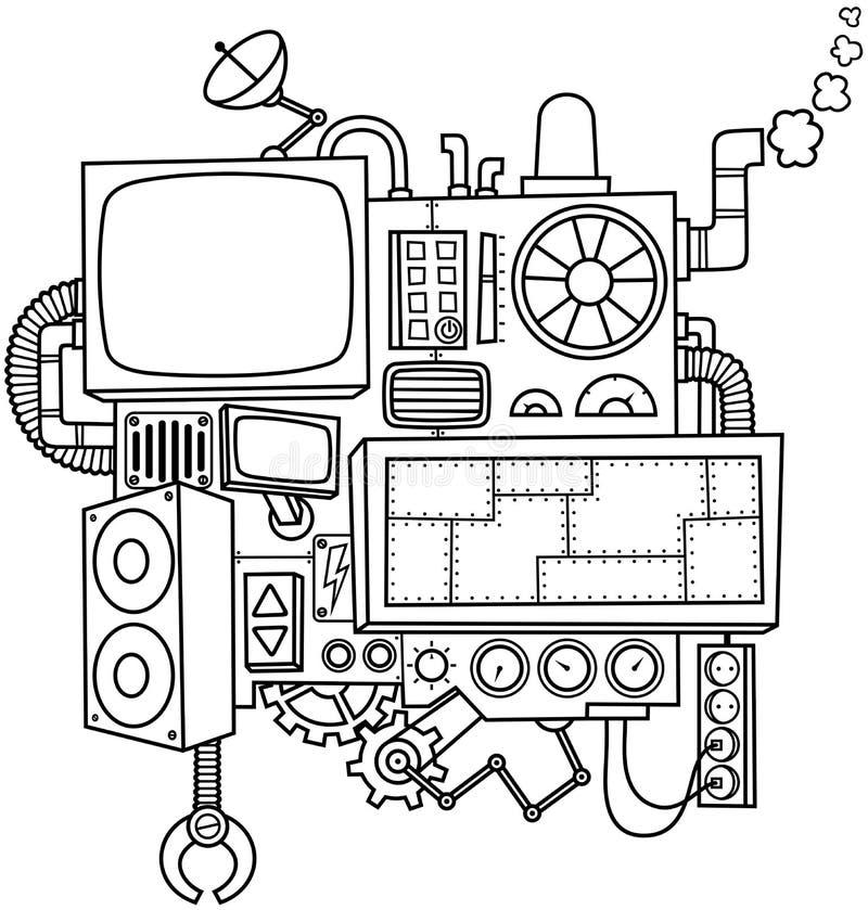 Machine Line Art stock photo
