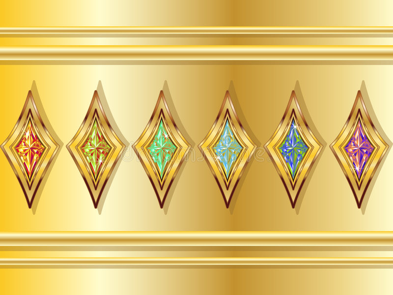 Fictional Diamonds stock illustration