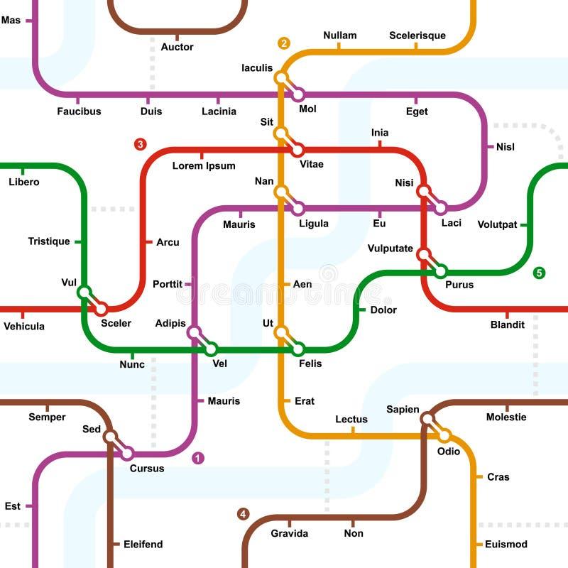 Download Fictional Metro Map Seamless Pattern Royalty Free Stock Image - Image: 33024666