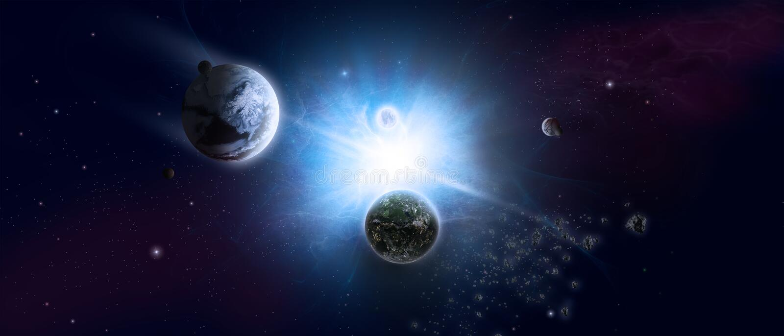 Download Universe and starfield stock illustration. Illustration of glow - 29958759