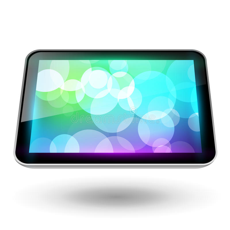 Fictitious Touch Tablet 6 Royalty Free Stock Photography
