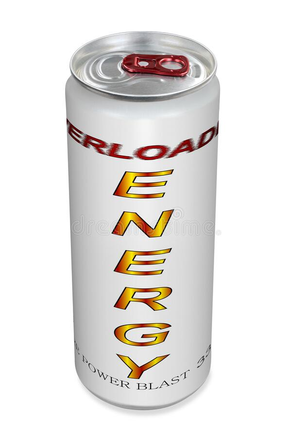 Free Fictive Energy Drink Tin Can Stock Photos - 186809153