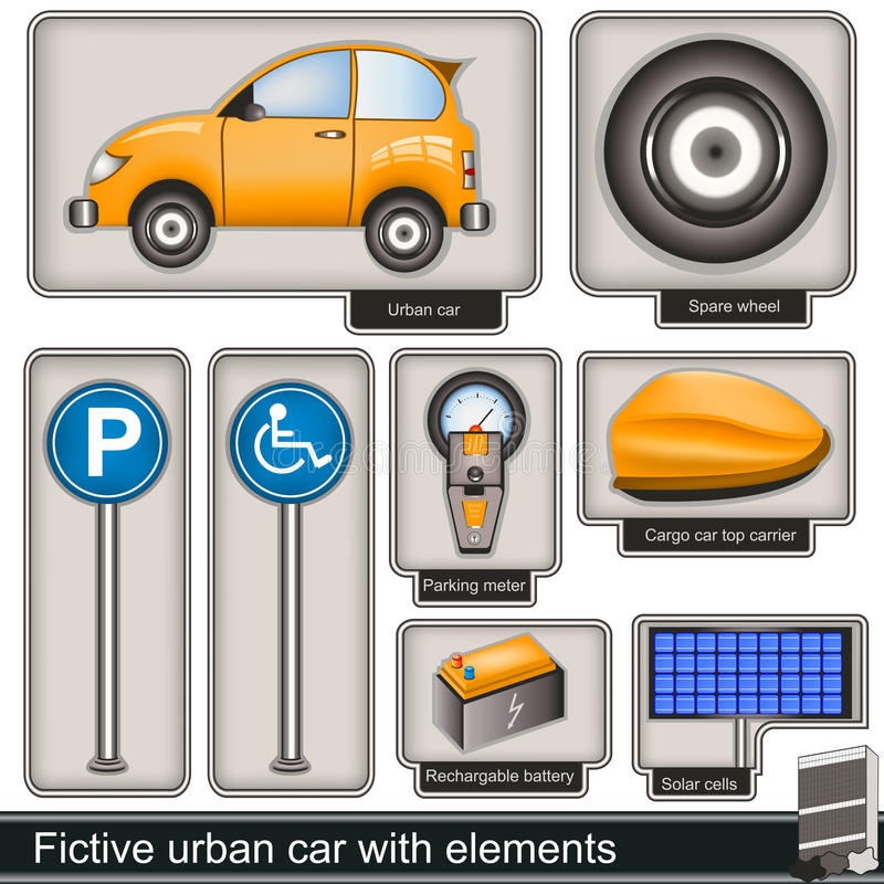 Download Fictive Urban Car With Elements Stock Photos - Image: 33443073