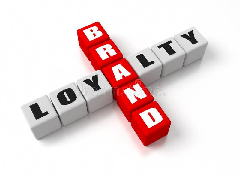 Fidélité à la marque illustration libre de droits