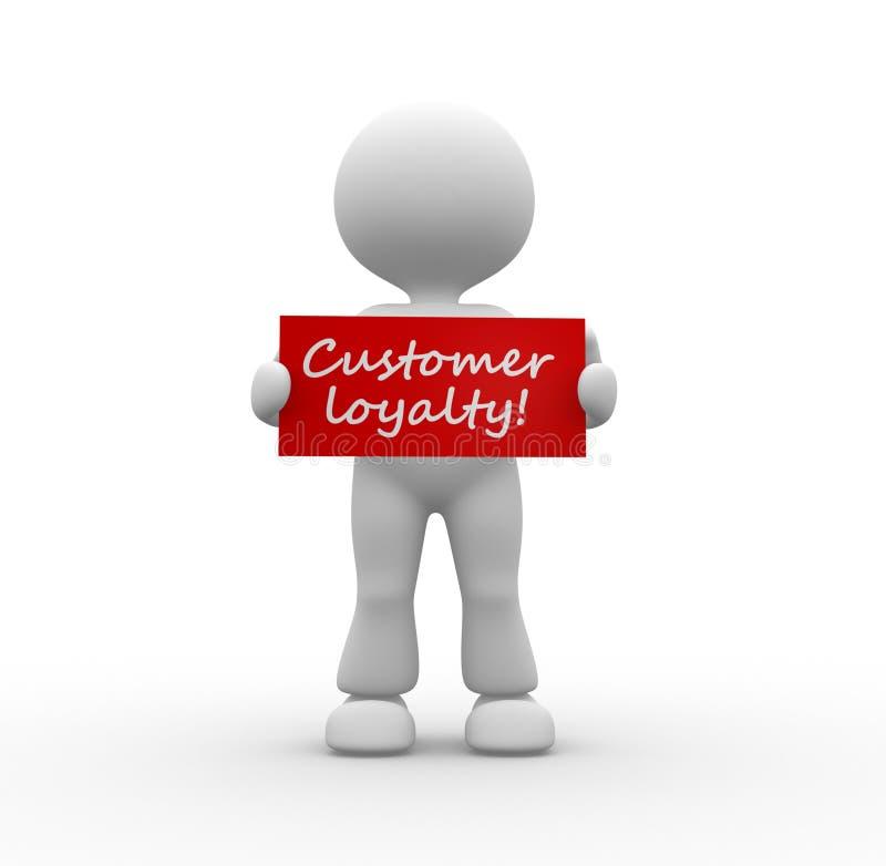 Fidélité de client ! illustration stock