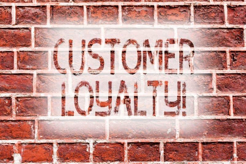 Fidélité de client d'écriture des textes d'écriture Mur de briques à long terme de confiance de relation de satisfaction de clien illustration de vecteur