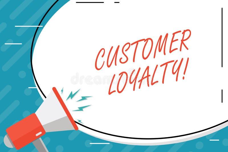 Fidélité de client des textes d'écriture Confiance à long terme de relation de satisfaction de client de signification de concept illustration stock