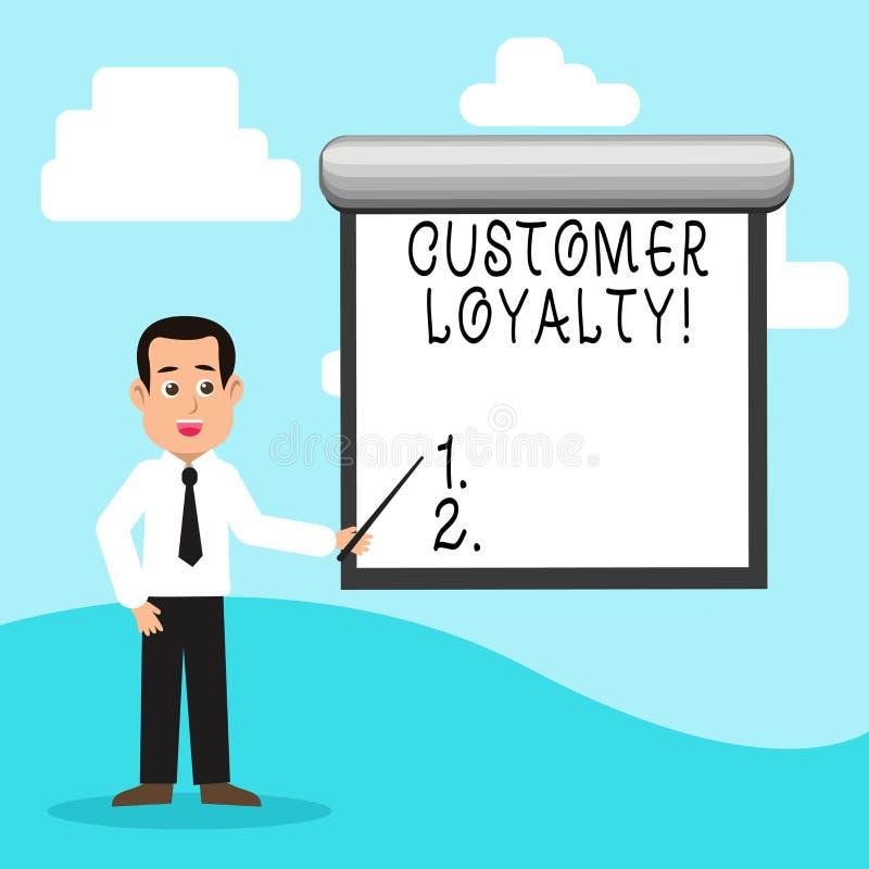 Fidélité de client des textes d'écriture Confiance à long terme de relation de satisfaction de client de signification de concept illustration libre de droits