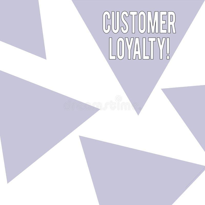 Fidélité de client des textes d'écriture de Word Concept d'affaires pour la confiance à long terme de relation de satisfaction de illustration de vecteur