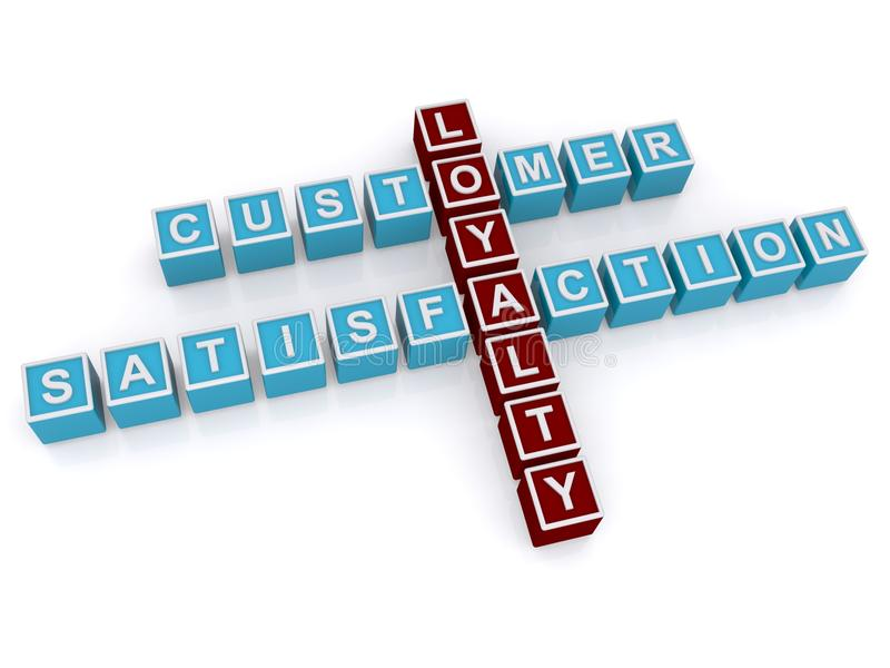 Fidélité et satisfaction de client illustration de vecteur