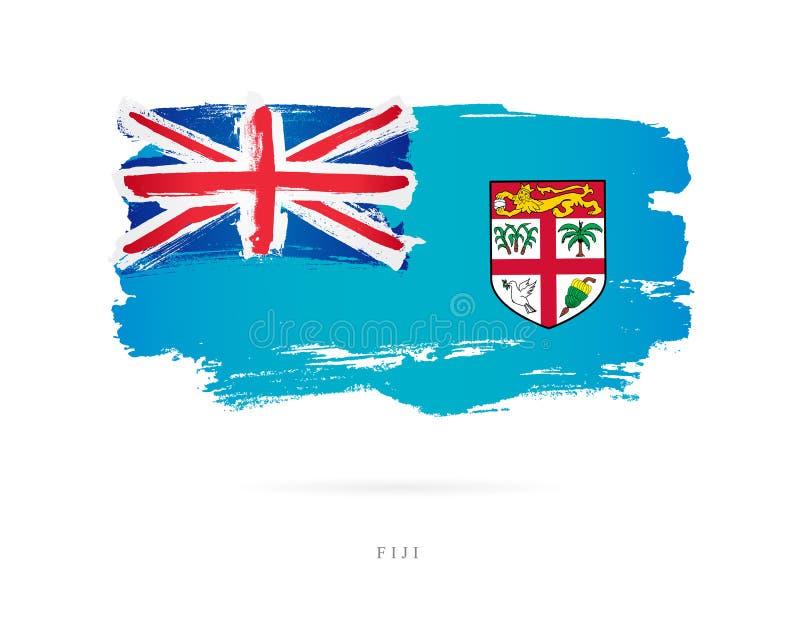 fidżi flagę Abstrakcjonistyczny pojęcie ilustracja wektor