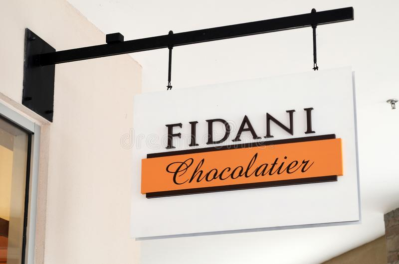 Fidani Chocolatier store in Genting Highlands, Malaysia. GENTING HIGHLANDS, MALAYSIA- DEC 03, 2018: Fidani Chocolatier store in Genting Highlands, Malaysia royalty free stock photos
