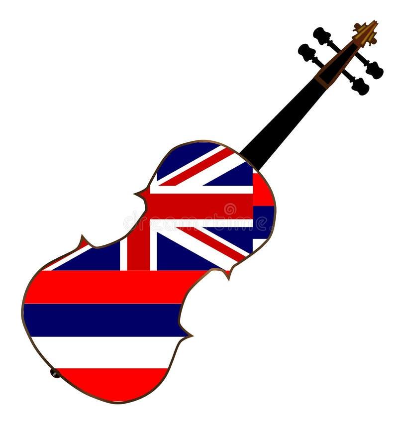 Fiddle della bandiera dello stato delle Hawai royalty illustrazione gratis