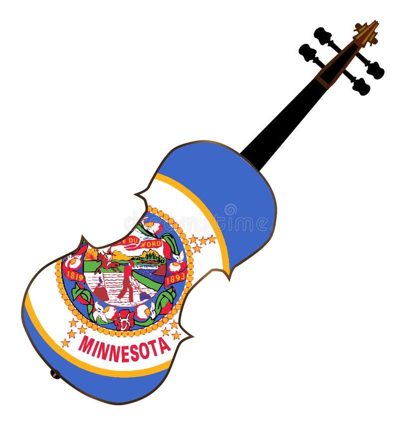 Fiddle dello stato del Minnesota royalty illustrazione gratis