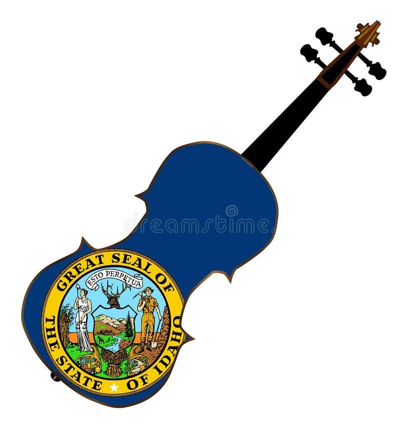 Fiddle dello stato dell'Idaho illustrazione vettoriale