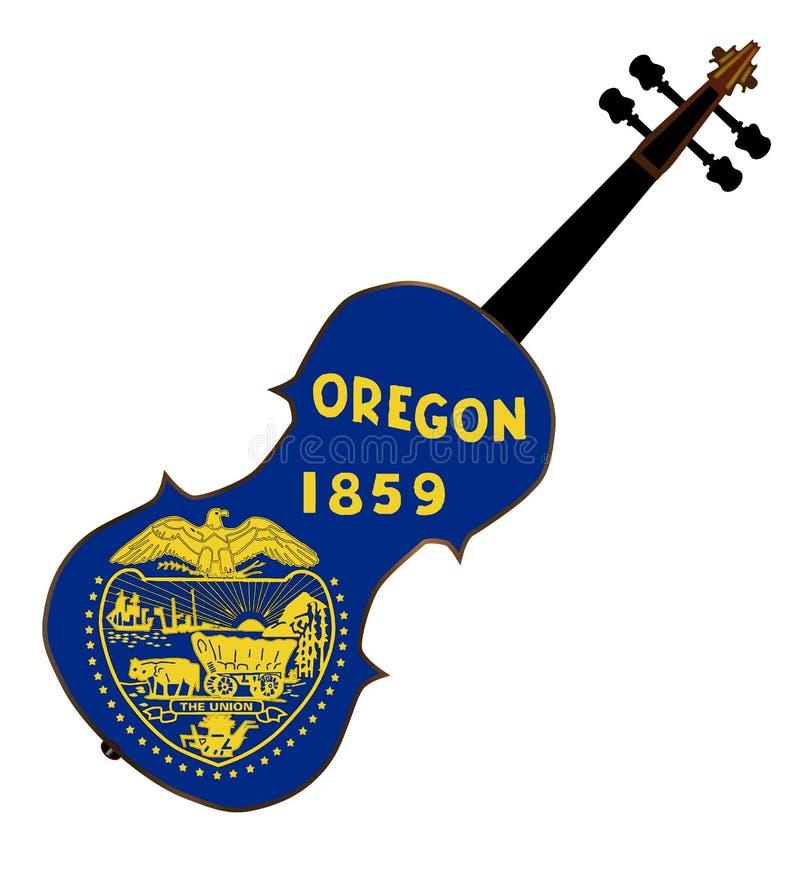 Fiddle dello stato dell'Oregon illustrazione di stock