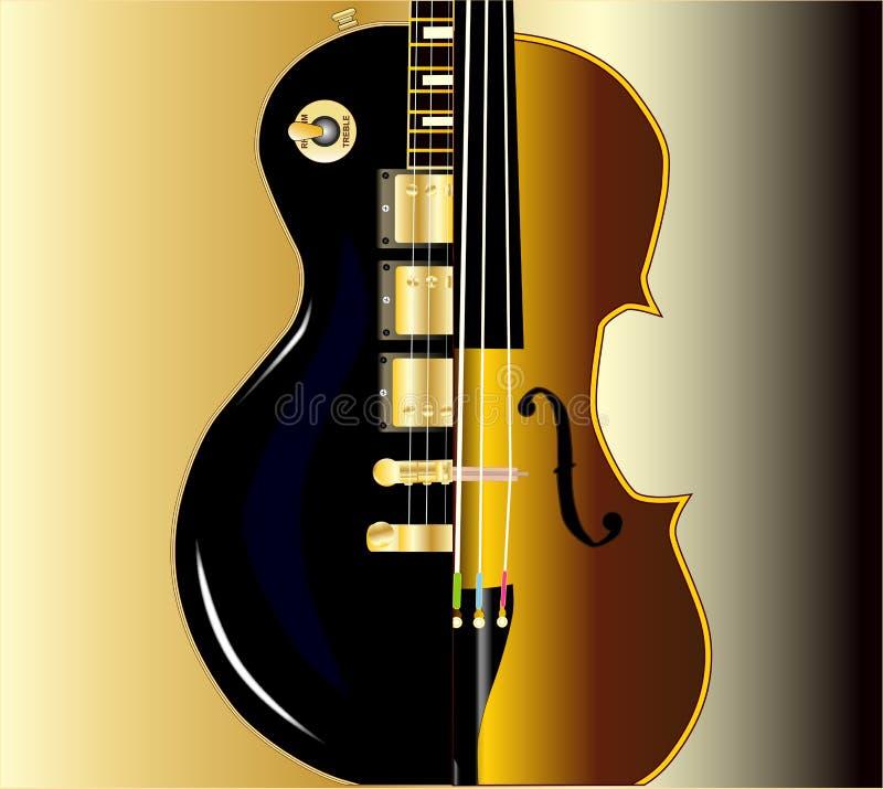 Fiddle Guitar Morph stock illustratie