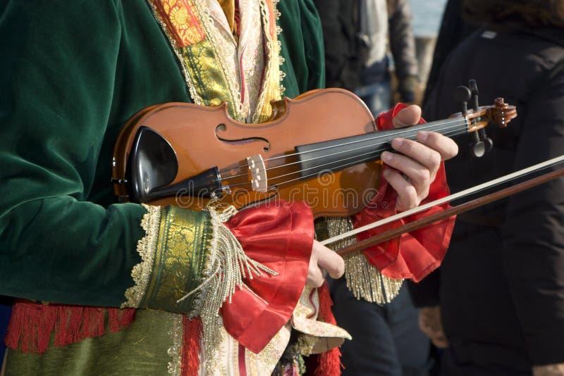 Fiddle - máscara do carnaval de Veneza imagem de stock