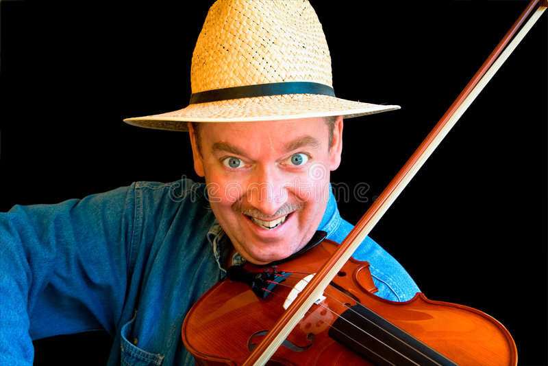 Fiddle Speler royalty-vrije stock fotografie