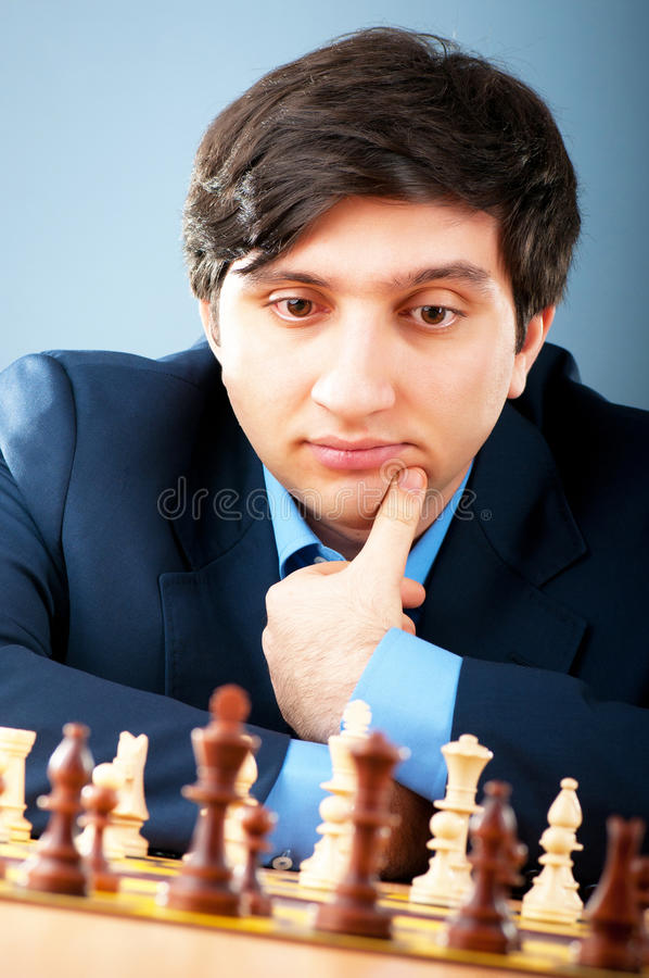 FIDE大师Vugar Gashimov (世界级别- 12) 库存照片