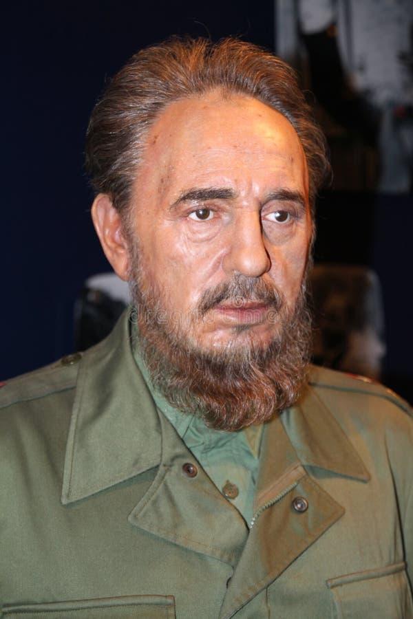 Fidel Castro alla l$signora Tussaud immagini stock libere da diritti