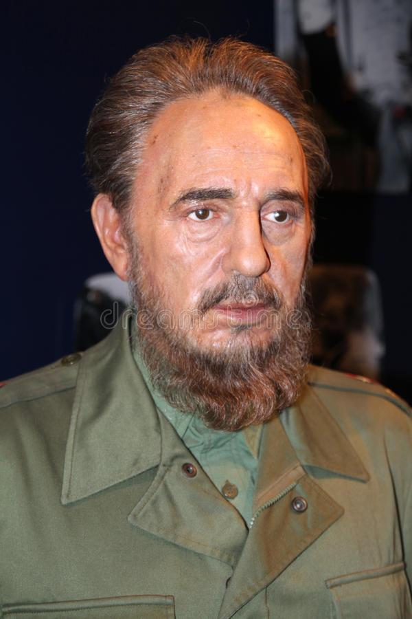 Fidel Castro at Madame Tussaud's royalty free stock images
